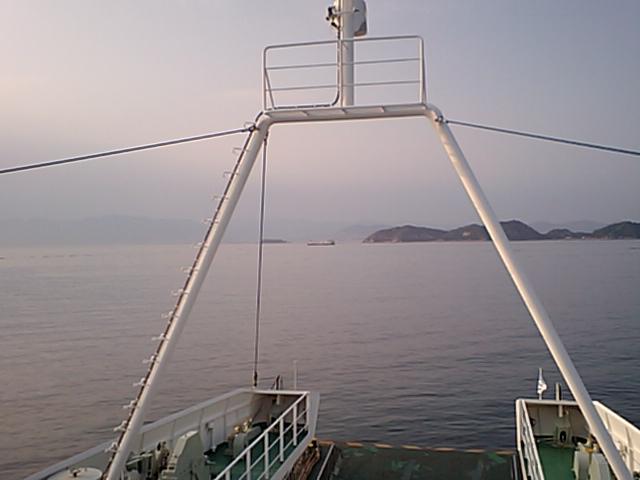 宇品行きフェリー船上