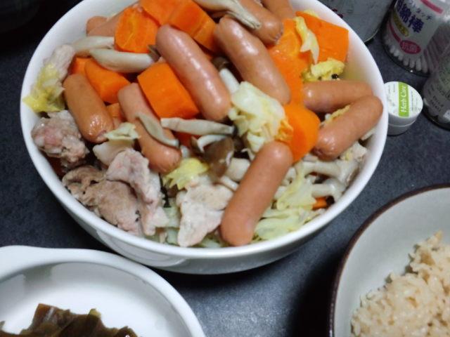 夕飯はヘルシーに蒸し料理