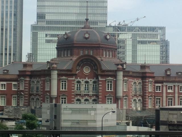 復元中の東京駅。だいぶ出来てきた(^o^)
