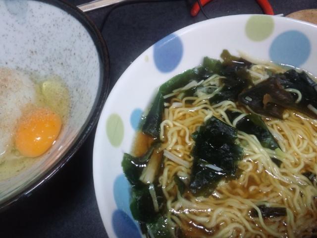 昼食。気力で作った(^^;)