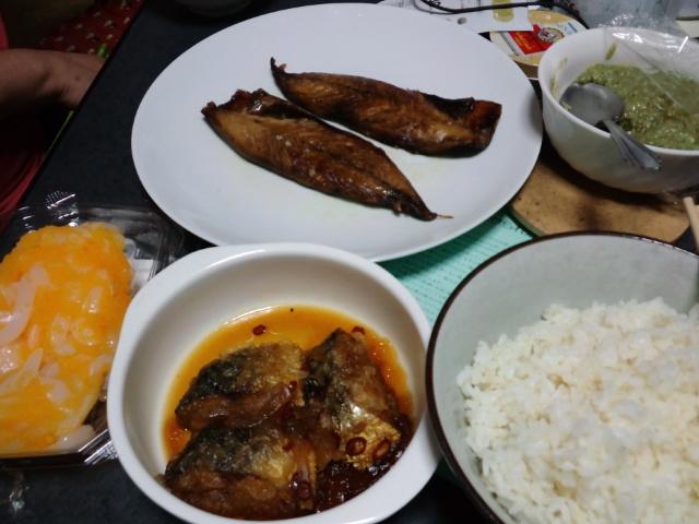 夕食。魚づくしw