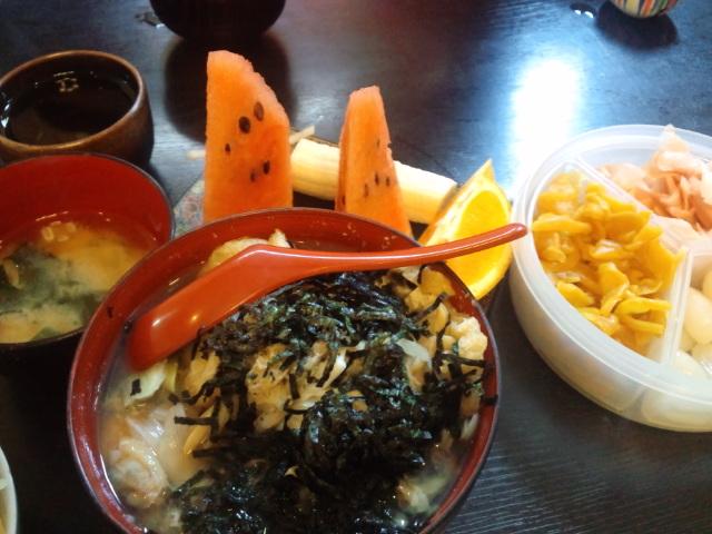 昼食。深川丼!