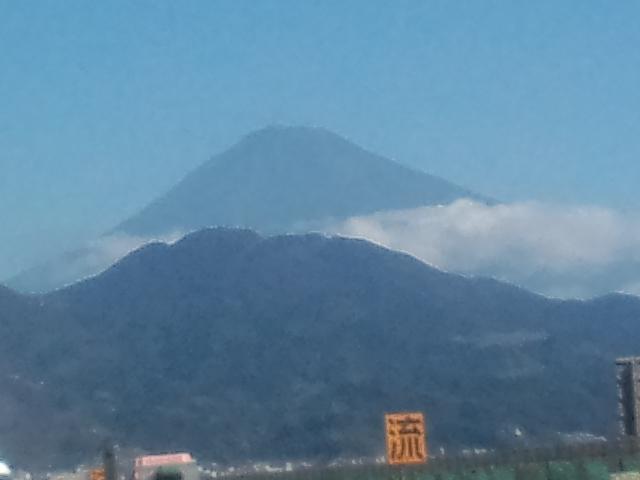富士山がきれいなので思わず撮影(^^;)
