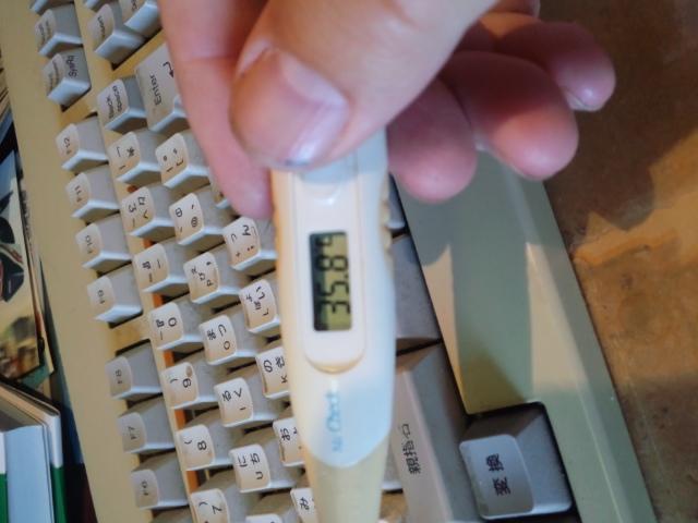 今年も室温を体温計で測る季節がやってきたorz