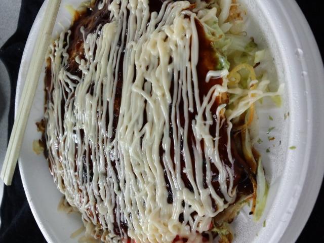昼食は恒例のお好み焼き(^o^)
