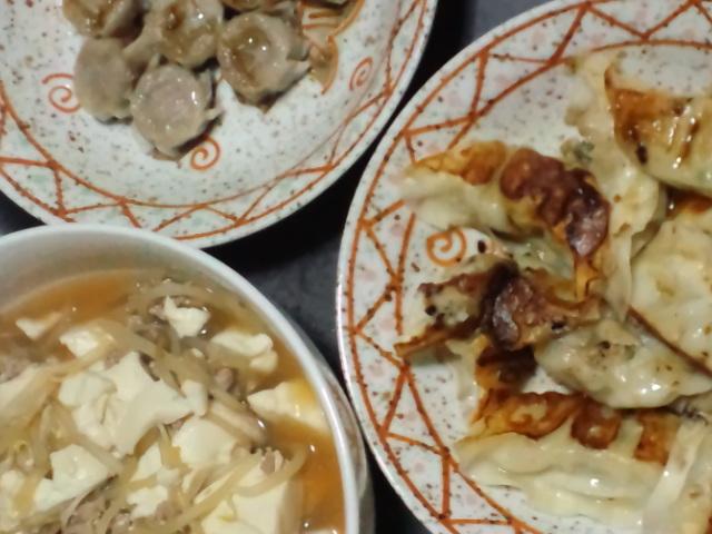 夕食。わりと中華風